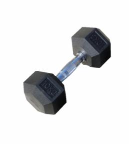 Набор обрезиненных гантелей 2,5-25 кг, 10 пар, шаг 2,5 кг